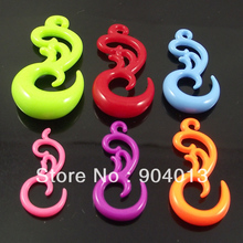 120pcs Free Shipping Candy Color Acrylic Peacock Ear Plug Phoenix Animal Flesh Tunnel UV piercing jewelry