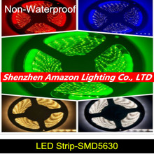 5M Cheap Blue/Red/Warm/Cold White Non Waterproof LED SMD 5630 Strip Light 12V LED Stripe Lights Lighting