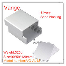2pcs/lot sand blasting silvery aluminum customized case 6063-T5 aluminum distribution box 90*59*120mm for wifi equipment