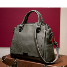 Luxury Shoulder Bags for Women 2017 New Ladies Handbags Genuine Leather Bag Female Vintage Saffiano Bag Green Black Coffee A059