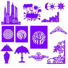 1PC New Silver DIY Christmas Halloween Metal Cutting Dies Stencil Scrapbooking Photo Album Decor Embossing Cards Making Crafts(China)