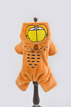 Cute Garfield Soft Flannel Pet Dog Jumpsuit Hoodie Coat Small Dog Clothes Winter Overalls Apparel S-XXL