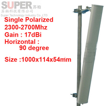 17dbi vertical polarization 90degree 2300-2700Mhz Panel antenna 2.4G wifi antenna Base station use FDD 4G antenna,TDD antenna