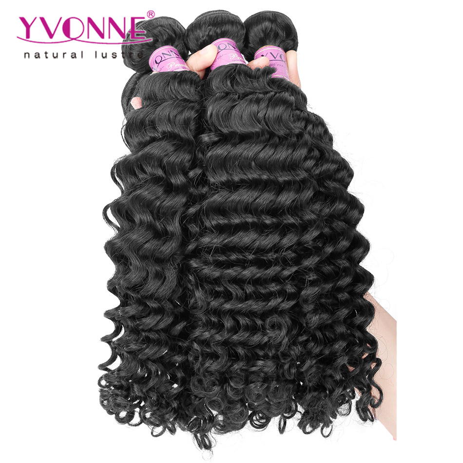 4Pcs/lot Deep Wave Virgin Peruvian Hair,100% Remy Human Hair Extension,Top Quality Aliexpress YVONNE Hair,Natural Color<br><br>Aliexpress