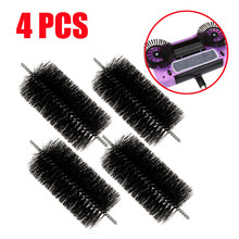 4 PCS 15.3cm Spin Hand Push Broom Sweeper Household Dust Collector Floor Surface Cleaning Mop