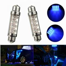 42mm 8 LED Blue Auto Car Interior Light Dome Festoon Reading Lamp Bulb(China)