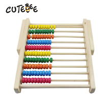 CUTEBEE Wooden Toys for Children Montessori Toy Math Toy Cube Educational Calculate Abacus for Kids Baby Toys(China)