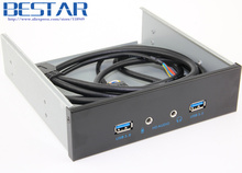 2 Ports USB 3.0 + 2 port Audio Desktop Computer Front Panel Drive Bit Expansion Rack USB3.0 CD-ROM Bracket Mount HUB Bay(China)