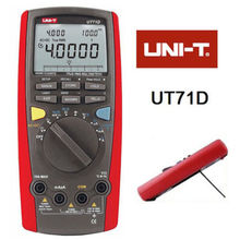 Free shipping UNI-T UNIT UT71D RMS Digital Multimeter Tester DMM USB Auto Data Log AC DC Power