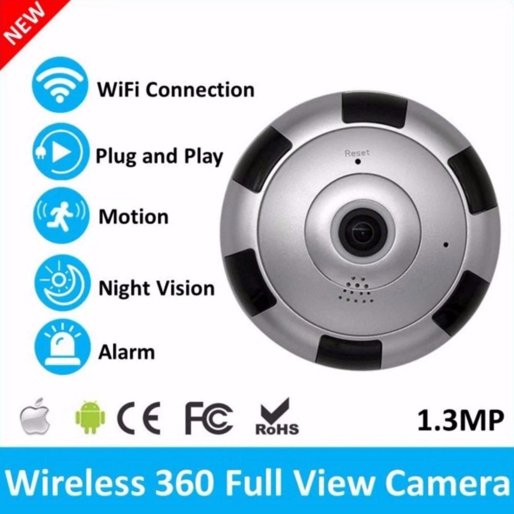 Panoramic Camera  Fish Eye Full HD 960P Wifi IP Camera with Sound Recorder Alarm System &amp; CCTV<br>