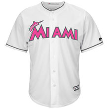 MLB Men's Miami Marlins Baseball White Mother's Day Cool Base Replica Team Jersey(China)