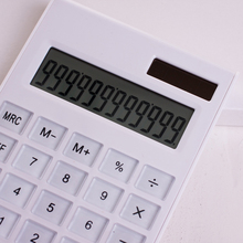 New Promotional Creative Slim Portable mini 12 digital calculator Solar Energy crystal keyboard Dual power supply rekenmachine