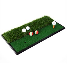 Fairway and Rough Surfaces Hitting Practice Chipping and Driving Golf Grass Mat - Green(China)