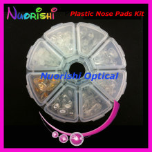 PVC Plastic Glasses Nose Pads Kit Contain 8 Different Types Eyeglass Eyewear Accessories Set HBN08 Free Shipping