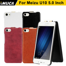 iMUCA Phone Cases Cover Meizu u10 Luxury case flip leather cover capa u 10 5inch vertical mobile phone bag shell - Communication Co.,ltd store