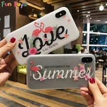 Fun Kays Red Crane Flamingo Relief Love Is All You Need Enjoy Summer Moment Watermelon Pink Flowers White Soft Elegant Phonecase