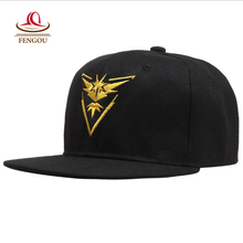 Cosplay Mobile game For Pokemon Go Team Valor Team Mystic Team Instinct snapback baseball Cap hat 20160804