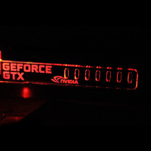 Red GeForce GTX LED Luminous Computer Office Main Box HIS-K5 Graphics Cards Custom Support Frame Display Card Components Jack