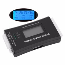 1Pc Computer PC Power Supply Tester Checker 20/24 pin SATA HDD ATX BTX Meter LCD Wholesale Store