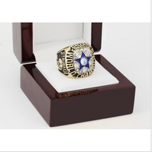 Replica 1971 Dallas Cowboys Super Bowl Football Championship Ring Size 10-13 With High Quality Wooden Box For Fans Best Gift(China)