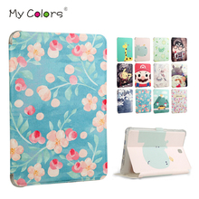 Buy Tab S2 T710 Tablet Case Cover Slim PU Leather Print Funda Samsung Galaxy Tab S2 8.0 T719 T715 T710 8'' Protective Stand Skin for $10.71 in AliExpress store