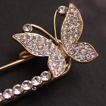 2017 NEW STYLE Women Lady Fashion Charming Chic Trendy  Butterfly Brooch Fashion Bridal Crystal Brooches Pin