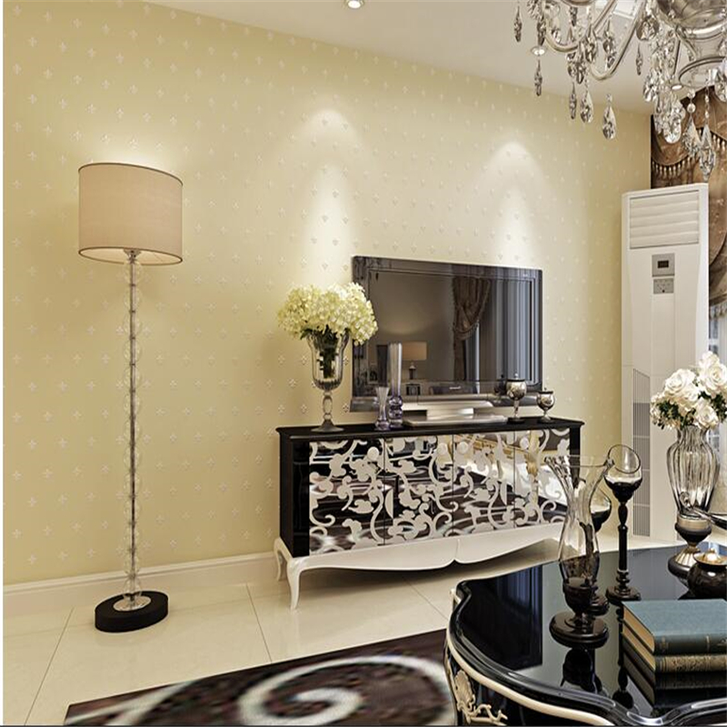 beibehang European Stereo Flocking Pearlescent Non wovens Wallpapers Living Room Bedroom Pony Stone Wallpaper papel de parede <br>