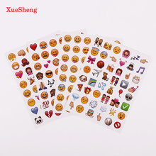 4 Sheets/Set Classic Face New Emoji Stickers 48 Die Cut Sticker For Notebook Fun Message Funny Creative Stationery Sticker