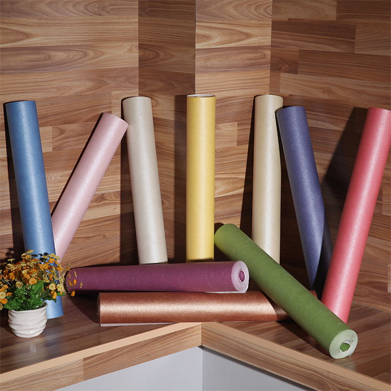 Solid wallpaper rolls Orichalceous/Green/Black/Pink/Blue/Coffee/Khaki/Gold/Creamy/silver silk wall paper rolls wallcoverings<br>
