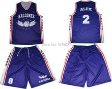 Royal Blue Team Uniforms Personal design Basketball Tops and Shorts