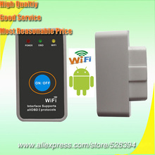 DHL EMS Fast Delivery OBD2 Wifi Scanner Elm327 MINI support WIFI Android with Power Switch Support All OBDII Protocols