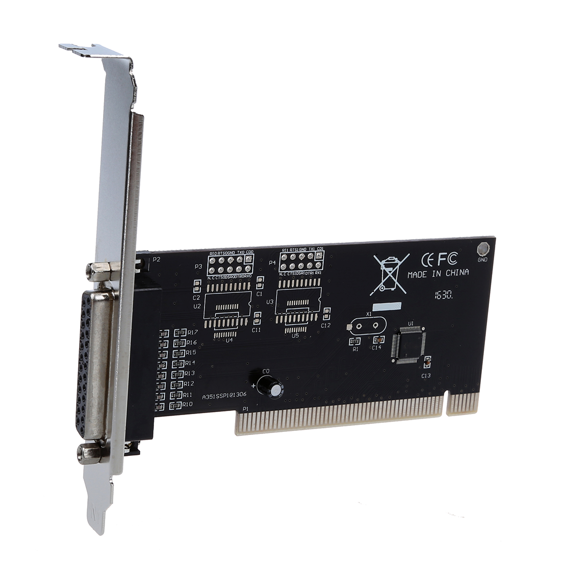 DB25 Parallel Port IEEE 1284 Printer PCI Controller Card Adapter