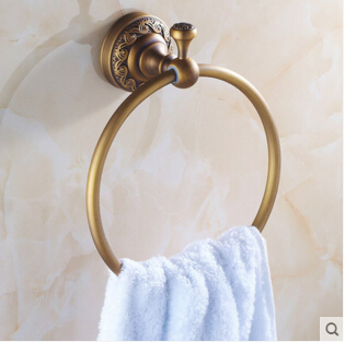 2017 new and fashionable brass towel ring antique bath towel rings bathroom accessories towel rack<br><br>Aliexpress