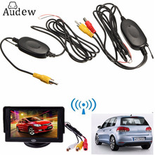 2.4 Ghz Wireless Video Transmitter Receiver Kit For Car Monitor To Connect The Car Rear View Camera Reverse Backup(China)