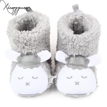 New Winter Booties Beautiful Sheep Design Four Colors Soft Kids Baby Girl Boy Shoes Winter Boots For 0-15 Months(China)
