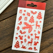 Christmas Decorations Self- adhesive Epoxy Sticker for Scrapbooking/ DIY Crafts/ Card Making Decoration
