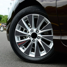 3D Carbon Fiber Car Wheel Hub Stickers Rim Sticker Decoration Honda Accord 9 Styling - Shop2960025 Store store