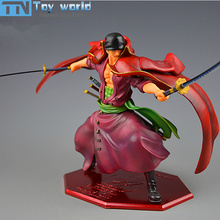 One Piece Action Figure luffy partner Roronoa Zoro Figures 23cm PVC model Toys for kids Best Collection Gifts with retail box(China)