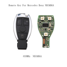 3 Buttons 433mhz Complete Remote Key Mercedes Benz year 2000+NEC&BGA style Auto Remote Key Benz IYZDC07 key+Blade