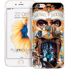 Fundas Michael Jackson Clear Soft TPU Silicone Phone Cover for iPhone X 7 8 Plus 5S 5 SE 6 6S Plus 5C 4S 4 iPod Touch 6 5 Cases(China)