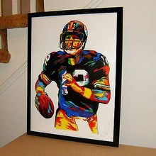 TOP Original abstract ART oil painting # Terry Bradshaw, Pittsburgh Steelers, Quarterback, Football - hand painted OIL painting(China)
