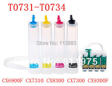 73 T0731-T0734 ciss continuous ink supply system for epson CX3900 CX5900 CX3905 CX4900 CX4905 CX6900F printers auto reset chip(China)