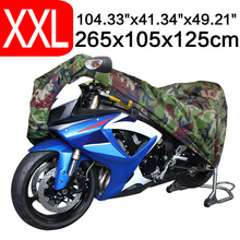 2XL 265 x 105 x 125cm Motorcycle Covering Waterproof Dustproof Scooter Cover UV resistant Heavy Racing Bike Cover Camouflage D10(China)