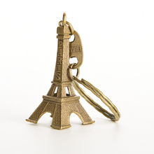 1 PCS Lovely 5cm Bronze Tone Paris Eiffel Tower For Charms Key/Bag/Cell Phone Straps Bag Parts & Accessories(China)