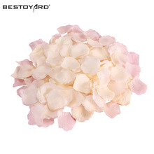 1000 Artificial Silk Rose Petals Wedding Party Flower Decoration Aisle Runners Flower Girl Tossing Table Decoration(China)