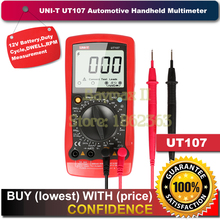 UNI-T UT107 LCD Automotive Handheld Multimeter AC/DC voltmeter Tester Meters with DWELL,RPM,Battery Check(China)