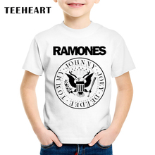 18M-10T  Print Modal Ramones Band T shirt For Boys/girls Rock Punk T-Shirts for Children Baby Girls Clothing TA189