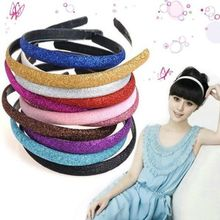6 Colors New Fashion Women Lady Girls Glitter Headband Sparkling Leather Plastic HairBand Hair Accessories