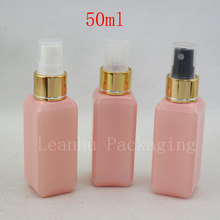 50ml X 50 Pink Perfume Mist Spray Bottle, Makeup setting spray Pump Cosmetic Container  Perfumes and Fragrances For Women Empty