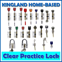Kingland Locksmith Practicing Skills Tool Set 22 PCS Different Transparent Cutaway Crystal Lock + 10pcs Lockpick Tool Set For GI(China)